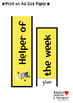 Editable Class Helpers - Minions Inspired / Classroom Helpers