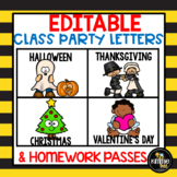 Editable Class Holiday Party Letter Bundle