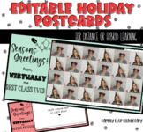 Editable Class Holiday Postcard Template | Distance or Hyb