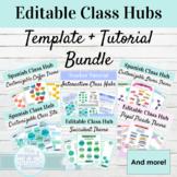 Editable Class Hub Template and Tutorial Bundle