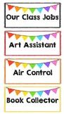 Editable Class Job - Rainbow Bunting