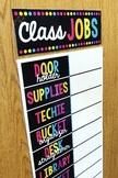 Editable Class Jobs Chart