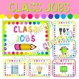 Editable Class Jobs - Colour me Confetti