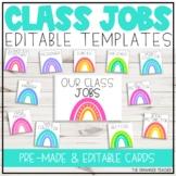 Editable Class Jobs Display | Dotted Rainbows Classroom Decor