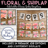 Editable Class Jobs Display (Floral and Shiplap)