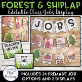 Editable Class Jobs Display (Forest and Shiplap)