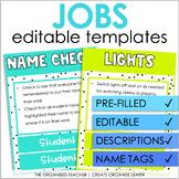 Editable Class Jobs Display | Spotty Neon Rainbow Classroom Decor