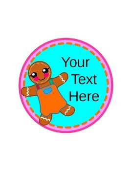 Editable Class Labels - Gingerbread Kids