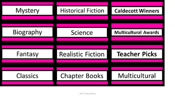 Editable Class Library Labels - Black & Pink