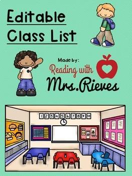 Editable Class List