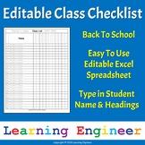 Class Checklist Editable