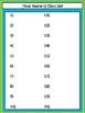 Editable Class List - Lime & Teal