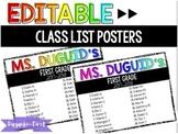 Editable Class List Poster > Rainbow!