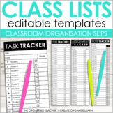 Editable Class List Slips