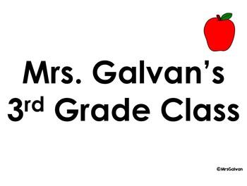 Editable Class List for Back to School
