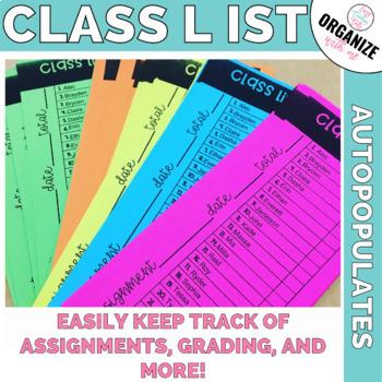 Editable Class List perfect for grading
