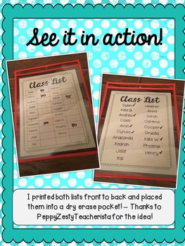 Editable Class Lists ~FREEBIE~