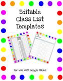 Editable Class Lists/Checklists