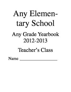 Editable Class Memory Book