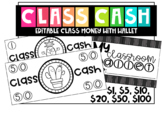 Editable Class Money and Wallet for Classroom Economy