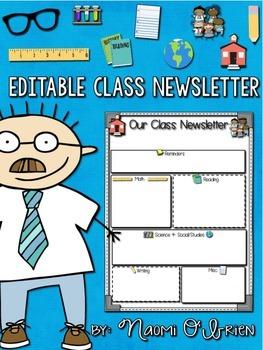Editable Class Newsletter Free Template