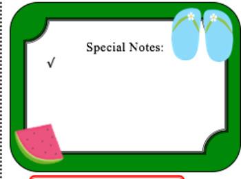 Editable Class Newsletter - Summer Theme