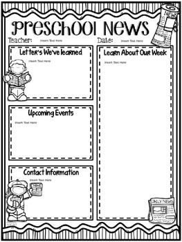 original-2067450-2 Teacher Weekly Newsletter Template on free printable preschool, for business, downloadable classroom, fourth grade, podcast email,