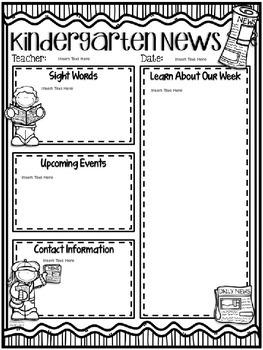 Editable Class Newsletter Template