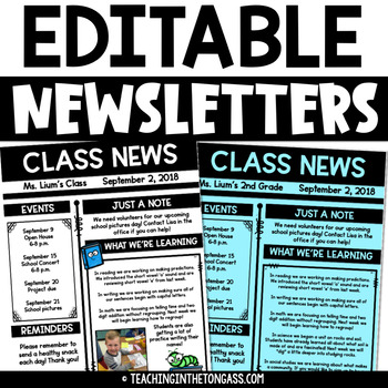 weekly newsletter template editable pdf powerpoint newsletter