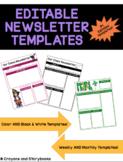 Editable Class Newsletter Templates