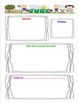 Editable Class Newsletter and Calendar Pack