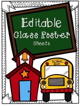 Class Roster Sheets - Editable