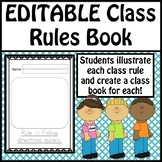 Editable Class Rules Book