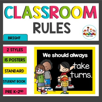 Chalkboard Brights Editable Class Rules