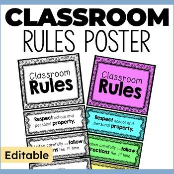 Editable Class Rules Chart