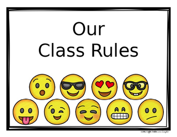 Editable Class Rules, Signs, Mottos -Emoji Theme