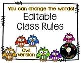 Editable Class Rules - Owl Theme