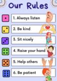 Editable Class Rules Poster - Kindergarten Class Rules Dic