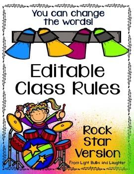 Editable Class Rules -Rock Star Theme