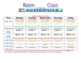 Editable Class Schedule Template