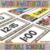 Editable Class Schedule: Wood & Watercolor Decor