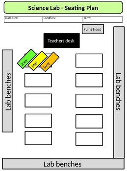 Editable Class Seating Planner