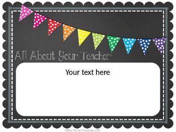 Editable Class Sign