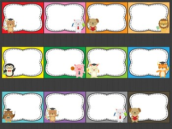 Editable Class Signs Posters Labels: School Animals