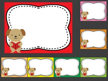 Editable Labels, Class Signs and Posters: School Animals