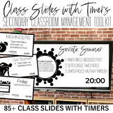 Class Slides with Timers: Secondary Classroom Management Toolkit