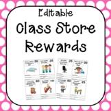 Editable Class Store Rewards