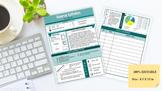 Editable Class Syllabus // Info graphics template, class i