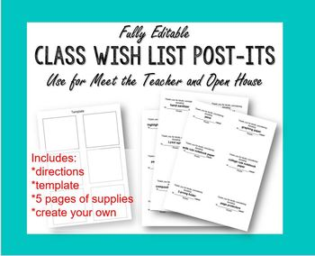 graphic relating to Printable Wish Lists referred to as Editable Cl Drive Checklist Printable Article-Its