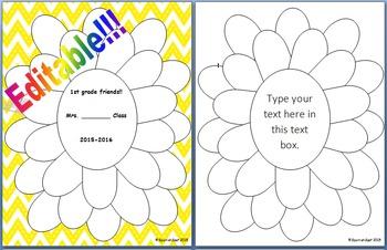 Editable!!! Class autograph flower page